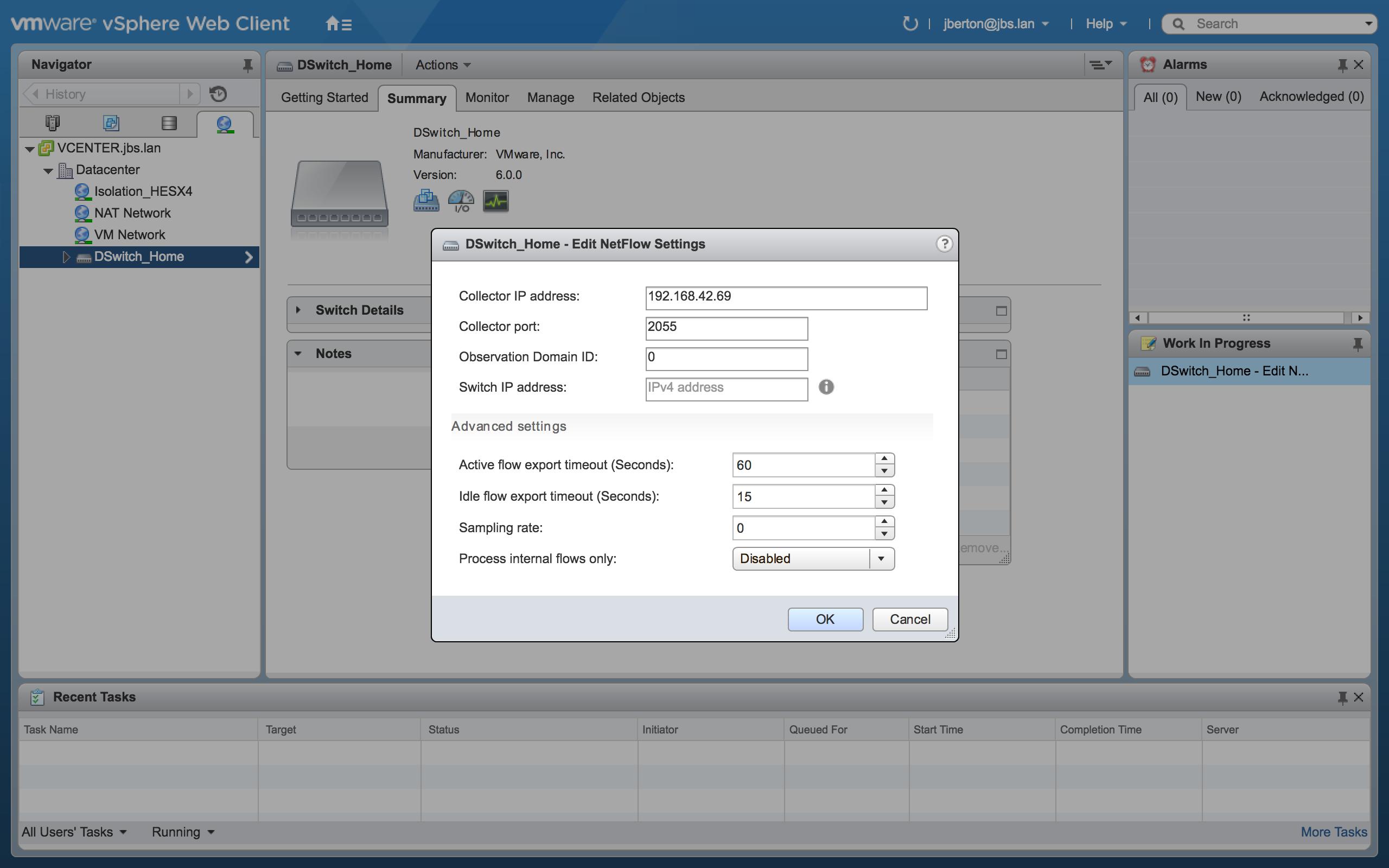 La surveillance du réseau facile avec NetFlow, ntopng et VMware